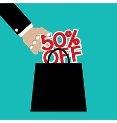 50 Percent Off vector image vector image