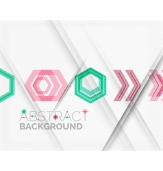 Geometric abstract background Arrow design vector image