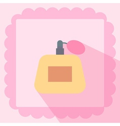Perfume flat icon on pink background vector
