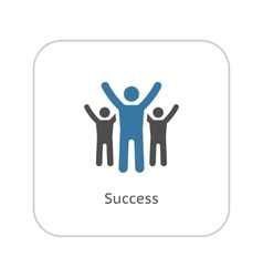 Success icon business concept flat design vector