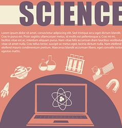 Science theme with text and symbols vector