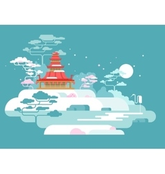 China painted landscape vector