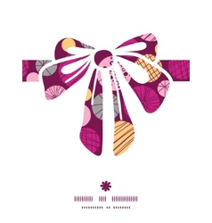 Abstract textured bubbles gift bow silhouette vector