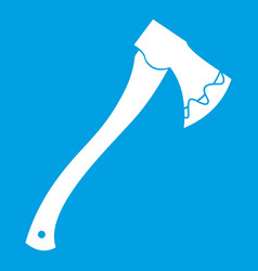 Axe in blood icon white vector
