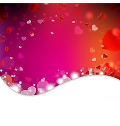 Background From Blur And Hearts vector image