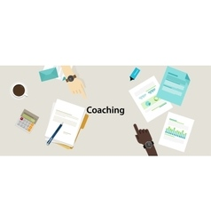 Business coaching professional management training vector