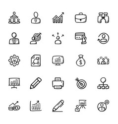 business doodle icons 1 vector image vector image