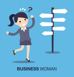 businesswoman front of a choice vector image
