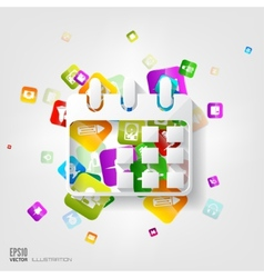 Calendar icon application buttonsocial media vector
