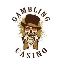 Casino retro logo on a white background vector