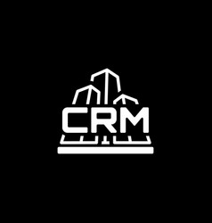 corporate crm system icon flat design vector image vector image