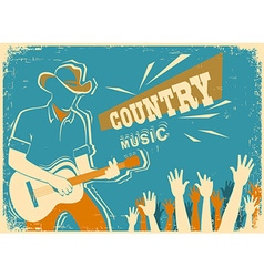 Country music festival with musician playing vector