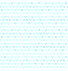 Cyan striped heart pattern seamless background vector