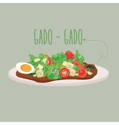 gadogado Indonesia traditional salad food cuisine vector image vector image