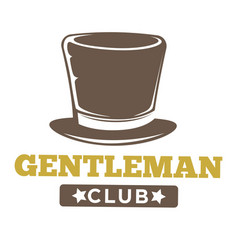 Gentlemen club logo in vintage style on white vector