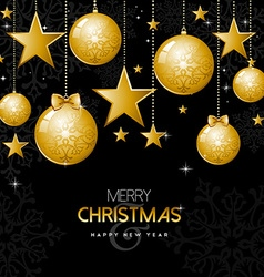 Gold christmas and new year ornament decoration vector