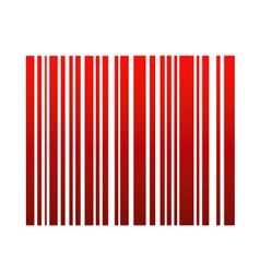 Graphical red bar code vector
