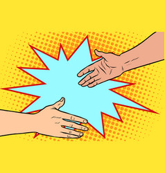 handshake business deal friendship vector image vector image