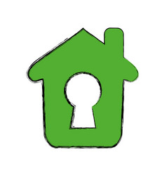house insurance and security vector image