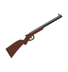 Hunting shotgun icon vector