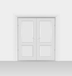 Interior doors hinged bivalve swings door vector