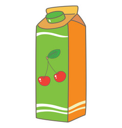 Juice box packing vector