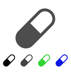 Medication granule icon vector