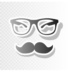 Mustache and glasses sign new year vector
