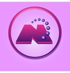 Nanotechnology symbol vector