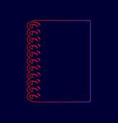 notebook simple sign line icon with vector image