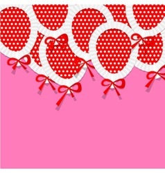 Pink party background for your text with paper vector