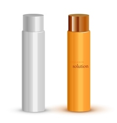 Realistic cosmetic bottle mock up set vector