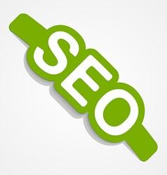 SEO label Design element vector image