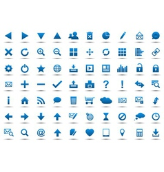 Set of blue navigation web icons vector image vector image