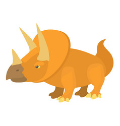 Triceratops icon cartoon style vector