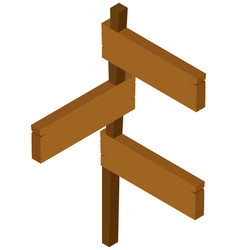 Wooden signs on post vector