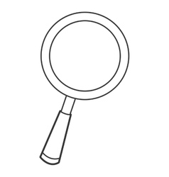 cartoon magnifying glass icon vector image