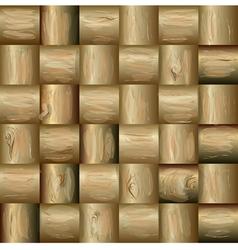 Mosaics made of wood vector image
