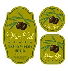 olive black green label vector image