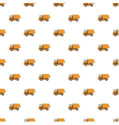 Orange dump truck pattern vector