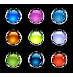 Website shiny buttons vector