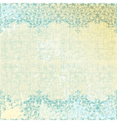 vintage beige and turquoise floral background vector image