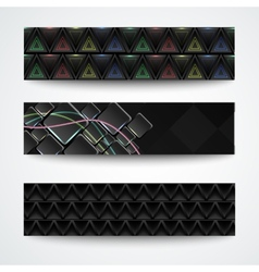 Set of three abstract textured cards vector image