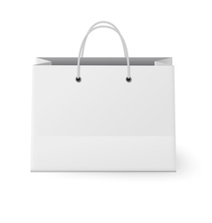 White shopping paper bag isolated on white vector