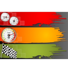 Three Speed Frame vector image