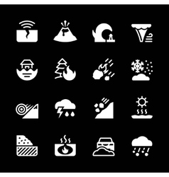 Set icons of natural disaster vector