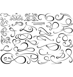 Calligraphic shapes vector