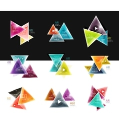 Collection of triangle web boxes - banners vector