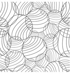 Abstract circles and curved line pattern vector