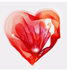 abstract heart vector image vector image
